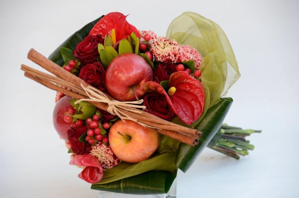 Estremamente Bouquet di fiori e frutta - Fiori De Berto - Consegna Fiori a Trieste HD72