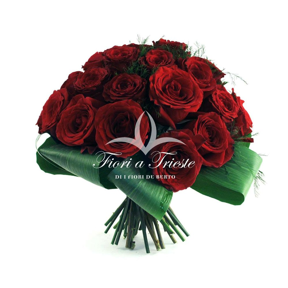 Preferenza Red Roses Bouquet - Fiori De Berto - Send Flowers to Como Italy to  QU41