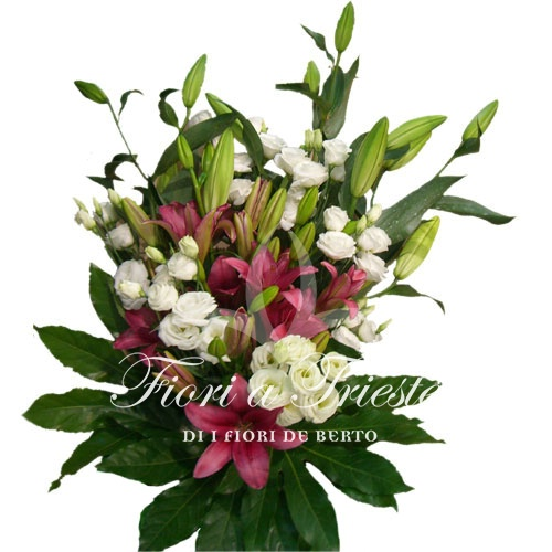 Top Bouquet of mixed flowers with lilies. - Fiori De Berto - Send  UA33